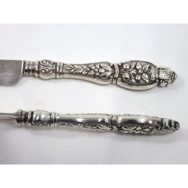 19th Century Victorian Citrus Fruit Knives - Set of 6 For Sale - Image 4 of 9