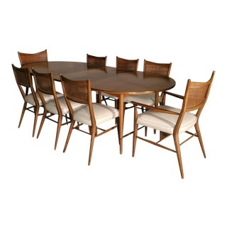 1950s Paul McCobb Connoisseur Collection Mahogany Dining Set - 9 Pieces For Sale
