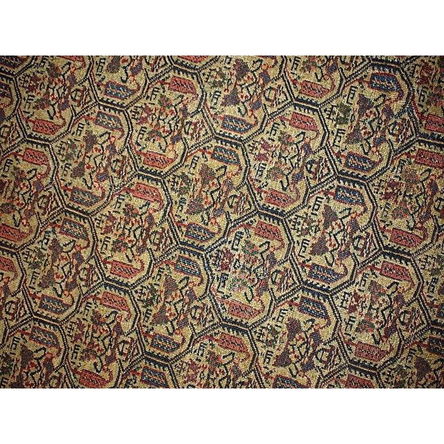 Islamic 1860s Hand Made Antique Persian Farahan Rug - 4′3″ × 6′4″ For Sale - Image 3 of 5
