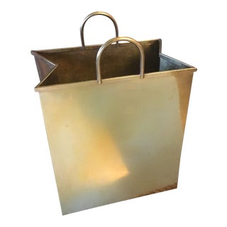 Sarreid Ltd. Brass Shopping Bag