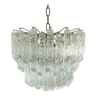 1960s Camer Spiral Crystal Chandelier For Sale