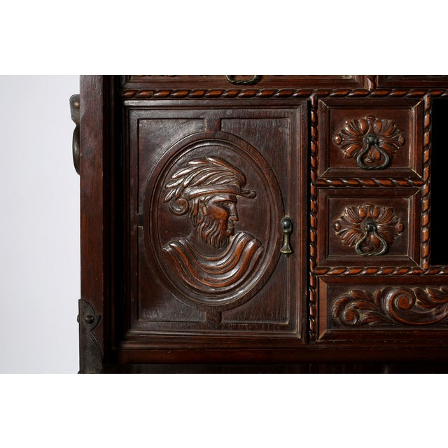 8th Century Baroque Style Cabinet on Stand / Bargueno / Vargueno For Sale - Image 4 of 13