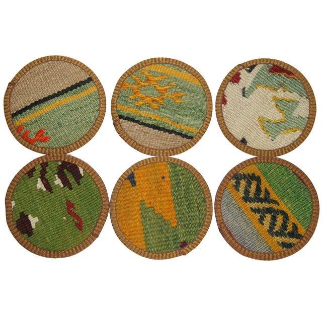 Evliya Kilim Coasters - Set of 6 - Image 2 of 2