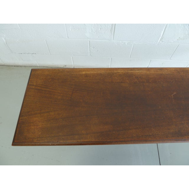 Antique Wood Table With Carved Floral Motif For Sale - Image 9 of 13