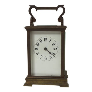 Antique Brass 8-Day Carriage Clock For Sale