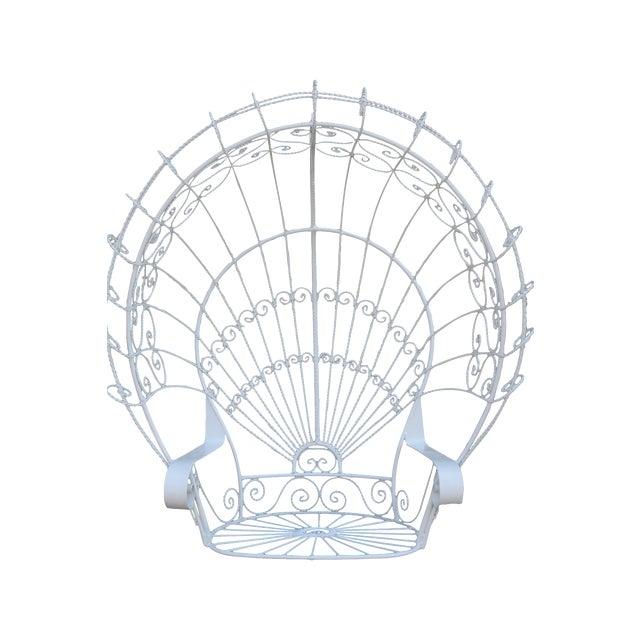 Vintage Metal Hanging Peacock Chair - Image 1 of 10