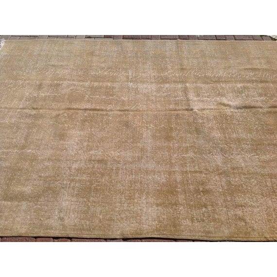 Vintage Turkish Oushak Rug - 6′11″ × 9′10″ For Sale - Image 4 of 6