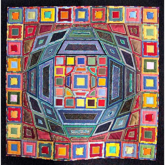 2007 Op Art Victor Vasarley Modern Tapestry Wall Hanging Fiber Art Signed Made in Italy For Sale - Image 9 of 9