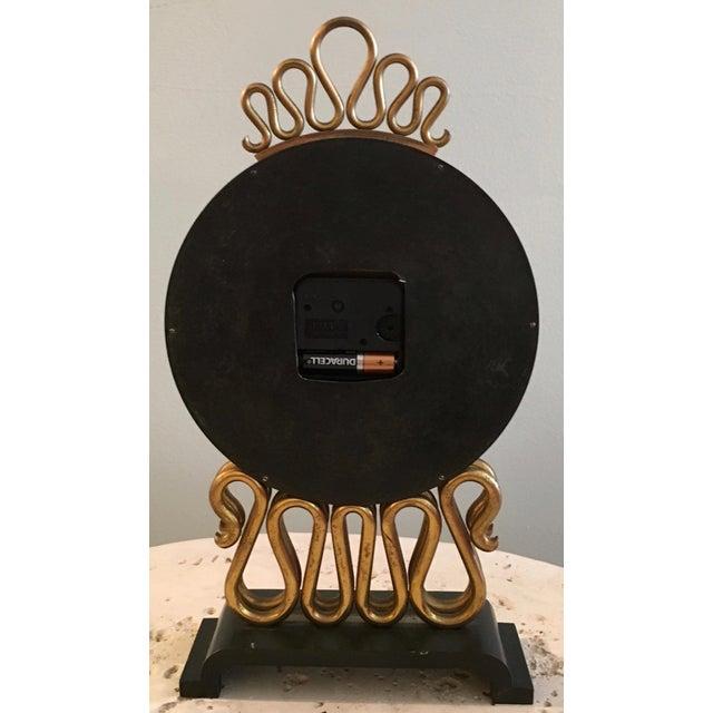 Mid-Century Bulova Table Clock For Sale - Image 5 of 6