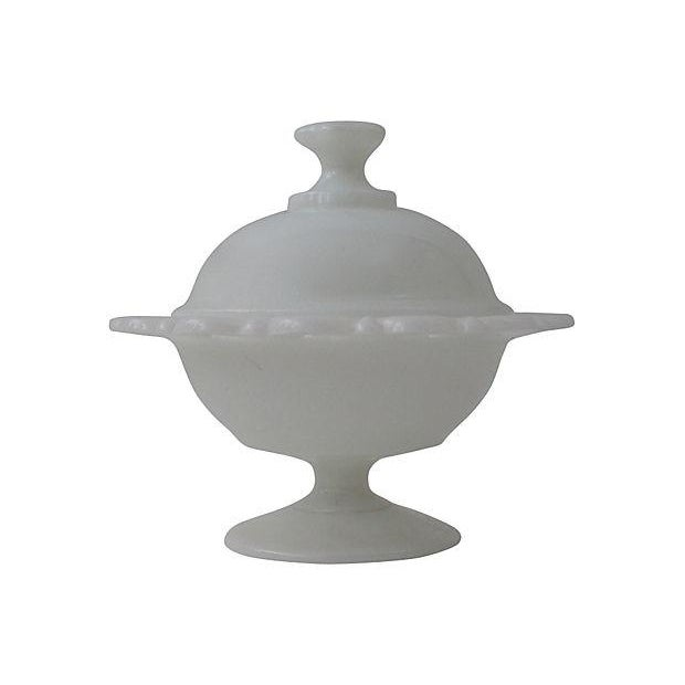 Milk Glass Covered Compote - Image 2 of 6