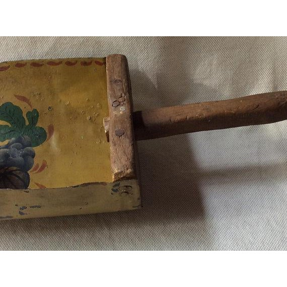 Antique French Farmhouse Style Toleware Grain Scoop For Sale - Image 6 of 9