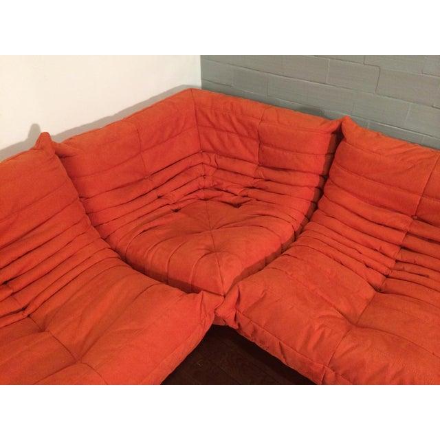 Michel Ducaroy for Ligne Roset Orange Togo Sofas - Set of 3 - Image 2 of 11
