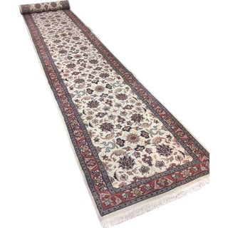 Vintage Indian Hand Woven Rug 2'8 X 16'4 For Sale