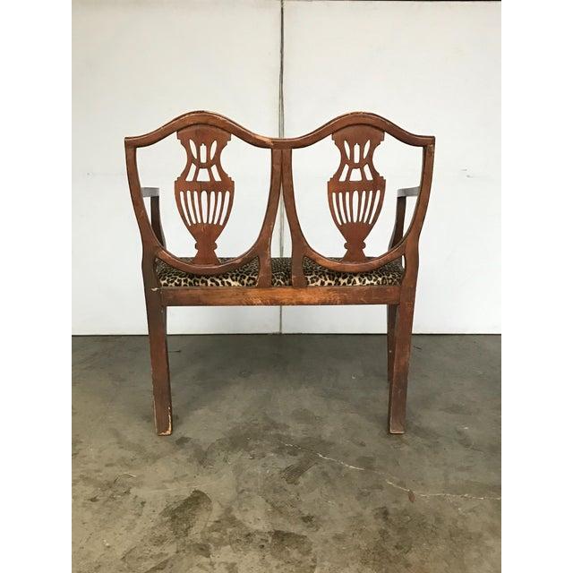 Italian 18th C. Italian Neoclassical Walnut Canape Bench For Sale - Image 3 of 7