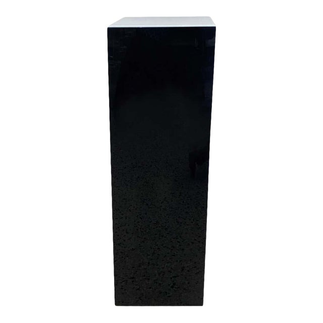 Vintage Pedestal Illuminated Black and White Lucite For Sale