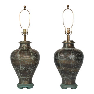 Brass Table Lamps by Ethan Allen For Sale