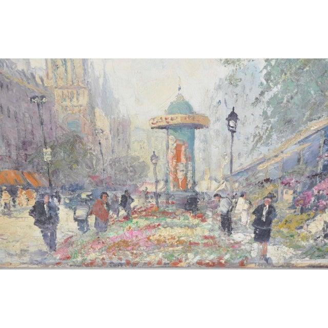 "French Marcel Brisson Original ""Paris"" Oil Painting c.1960 For Sale - Image 3 of 8"