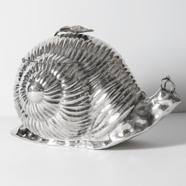 Italian Fabulous Snail Ice Bucket Made by Teghini in Florence C.1970 For Sale - Image 12 of 13