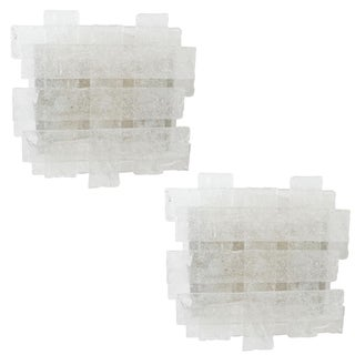 Crosshatch Murano Glass Sconces by Mazzega - a Pair For Sale