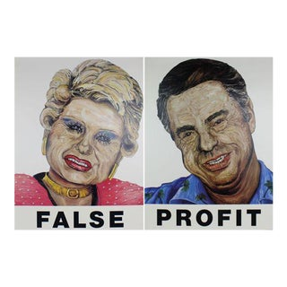 """False / Profit"" 1985 Art Print For Sale"