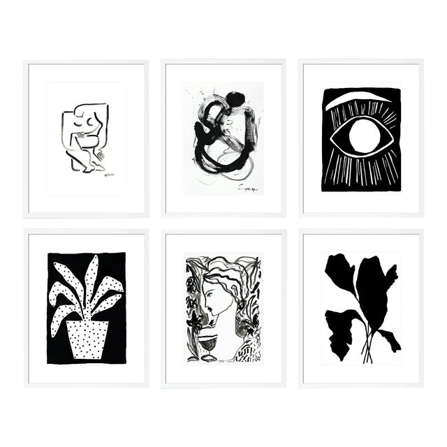 Minimalist Gallery Wall - Set of 6 For Sale