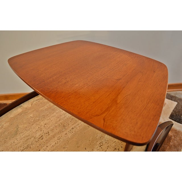 Bertha Schaefer Mid-Century Floating Marble Table - Image 4 of 7