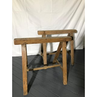 20th Century Rustic Wood Trestles for Desk or Table - a Pair Preview