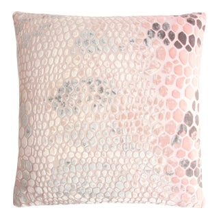 Blush Snakeskin Velvet Pillow