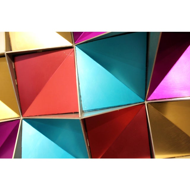Metal 1970's Anodized Aluminum Three Dimensional Geometric Wall Art For Sale - Image 7 of 9