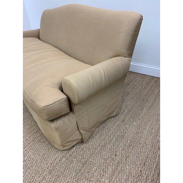 Traditional Nancy Corzine Sofa W/ Bench Cushion For Sale - Image 3 of 10