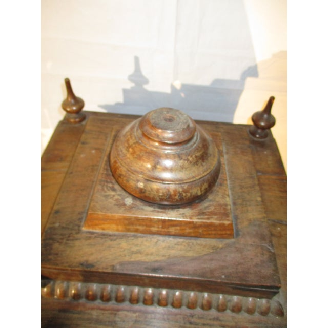 Brown Late 19th Century Vintage Indian Rosewood House Shrine Model For Sale - Image 8 of 12