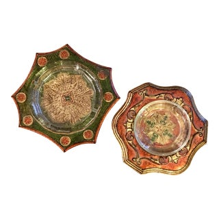 Italian Florentine Ashtrays - a Pair For Sale