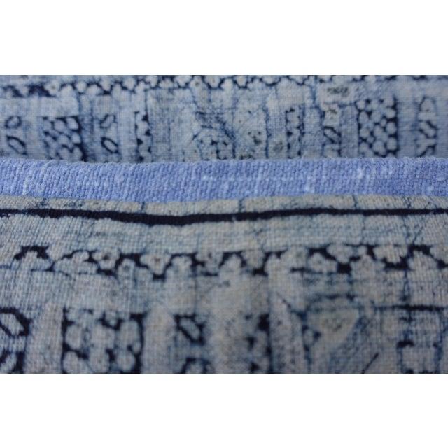 Navy & Light Blue Batik Pillows - A Pair For Sale - Image 4 of 6