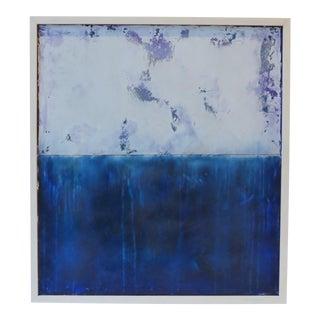 Sapphire, V. Original Oil & Venetian Plaster 2018 by C. Damien Fox