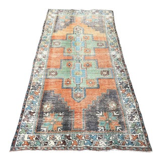 1960s Turkish Wool Rug-3′10″ × 8′2″ For Sale
