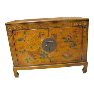 Chinese Trunk With Butterfly & Floral Motif