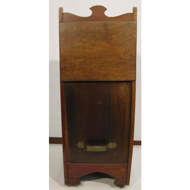 Wood English Wooden Coal Hod For Sale - Image 7 of 8