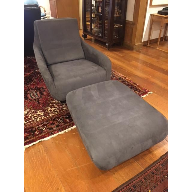 Ligne Roset Shaman Chair and Ottoman - A Pair - Image 4 of 5