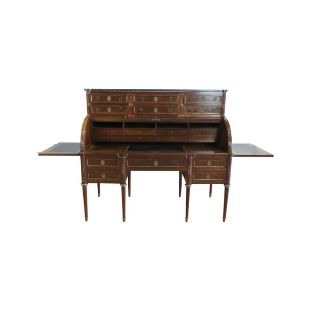 Maison Jansen Directoire Style Cylinder Desk For Sale - Image 11 of 11