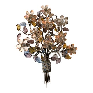 Banci Firenze Italian Floral Bouquet Sculptural Wall Light For Sale