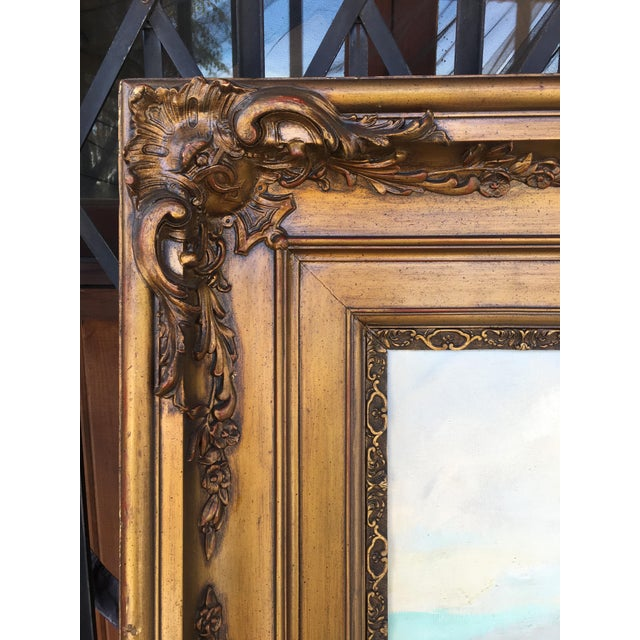 Paint Vintage Victorian Picture Frame Painting For Sale - Image 7 of 13