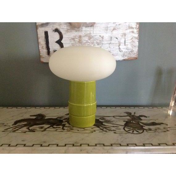Green Italian Mushroom Lamp, Italy C.1960 For Sale In San Francisco - Image 6 of 6
