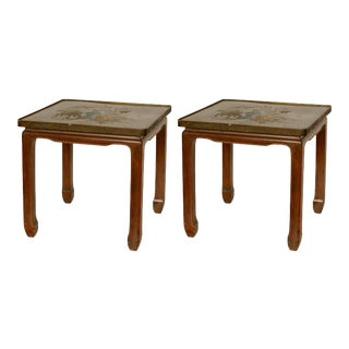 Pair of Philip & Kelvin Laverne Bronze Side Tables For Sale