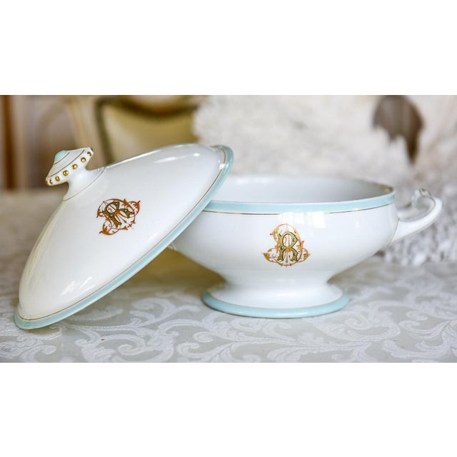 Antique French Porcelain Monogrammed Tureen For Sale - Image 5 of 5