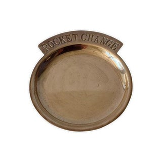 "Brass ""Pocket Change,"" Valet Dish For Sale"