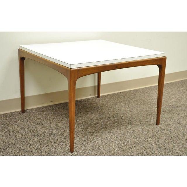 5710fd1876ed Danish Modern Vintage Mid Century Modern Walnut   Laminate Square Coffee  Table Danish Style For Sale
