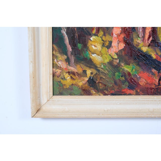 Expressionist Forest Lined Path by Finn Andersen For Sale In Nashville - Image 6 of 8
