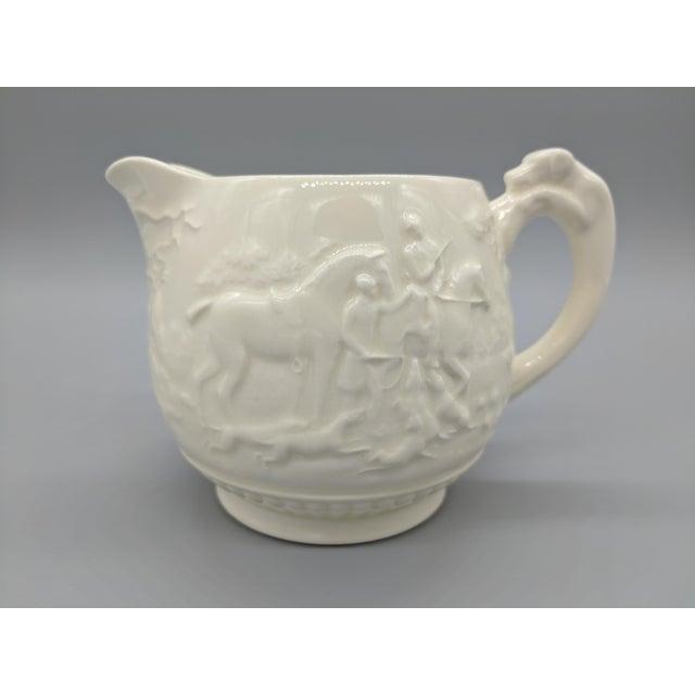 Ceramic Vintage English Wedgewood Ivory Tea Set - Set of 3 - Horse and Dog Motif For Sale - Image 7 of 11