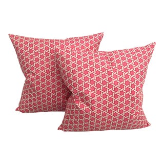 Sorell Geometric Pink Pillows - A Pair For Sale