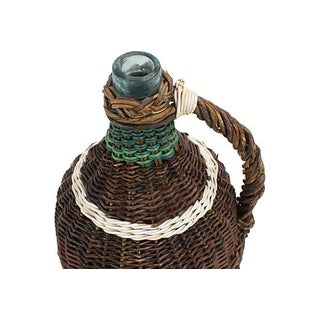French Wicker-Wrapped Glass Demijohn Preview